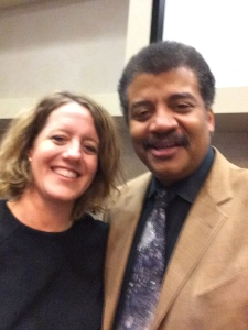 Lisa J Reed and Neil deGrasse Tyson